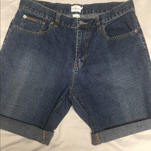 Calvin Klein cut off women jean shorts size 10